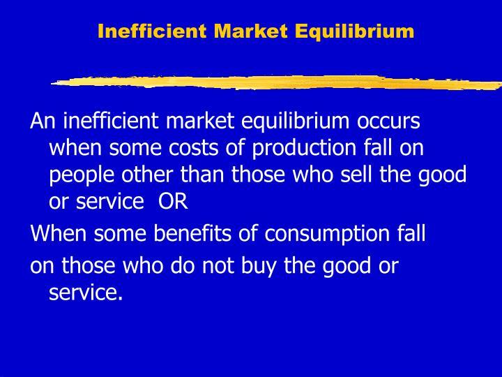 Inefficient Market Equilibrium