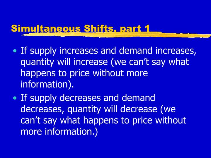 Simultaneous Shifts, part 1