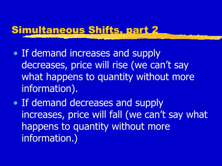 Simultaneous Shifts, part 2