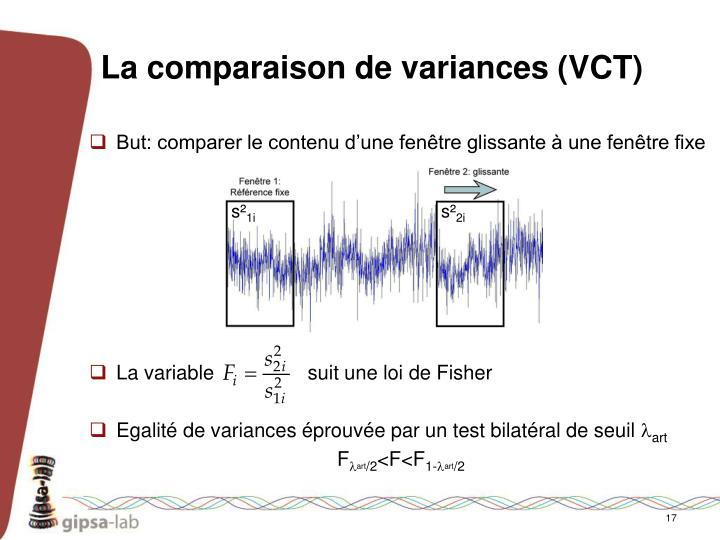 La comparaison de variances (VCT)