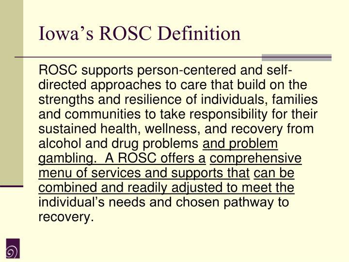 Iowa's ROSC Definition