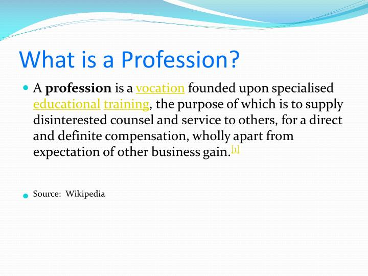 What is a Profession?