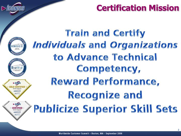 Certification Mission