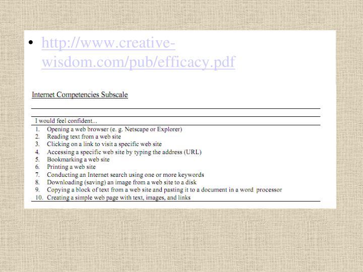 http://www.creative-wisdom.com/pub/efficacy.pdf