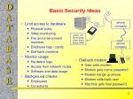 basic security ideas