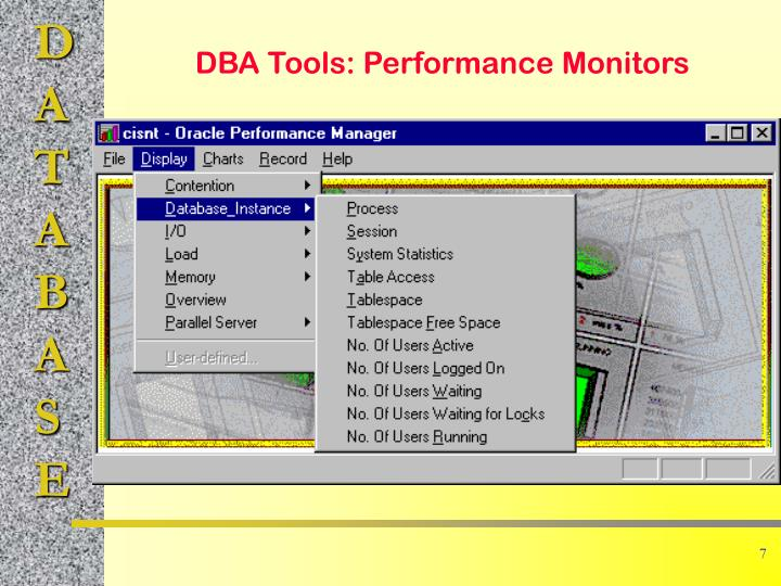 DBA Tools: Performance Monitors