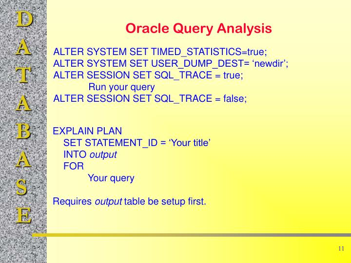Oracle Query Analysis