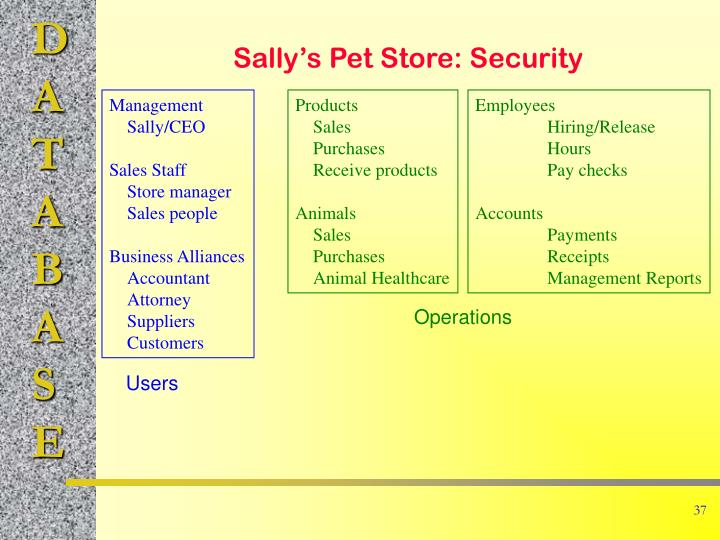 Sally's Pet Store: Security