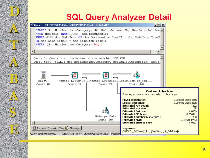 SQL Query Analyzer Detail