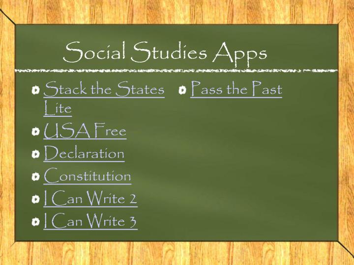 Social Studies Apps