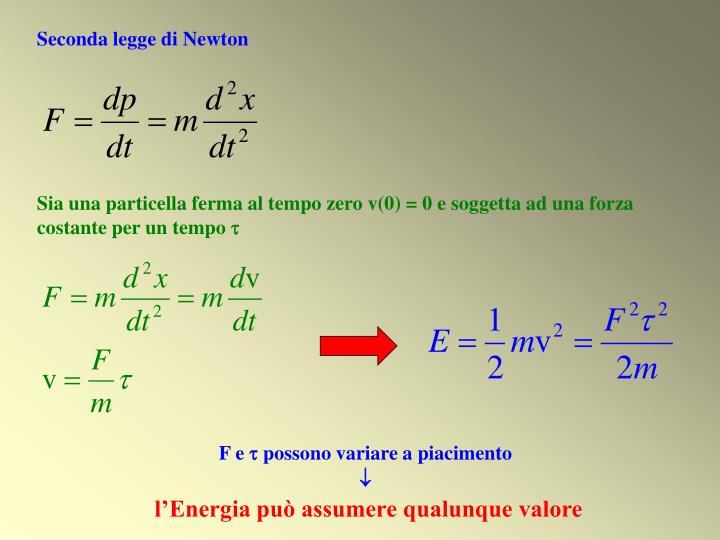 Seconda legge di Newton