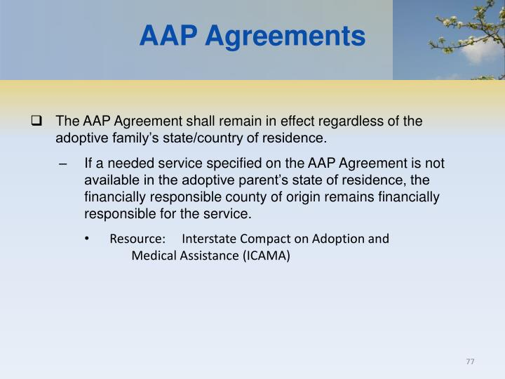 AAP Agreements
