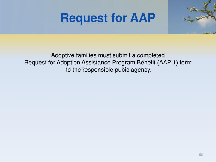 Request for AAP