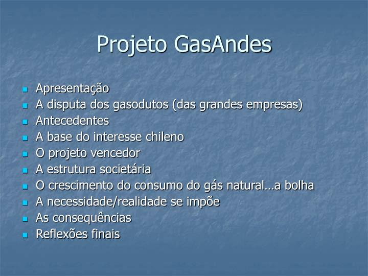 Projeto GasAndes