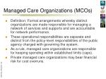 managed care organizations mcos