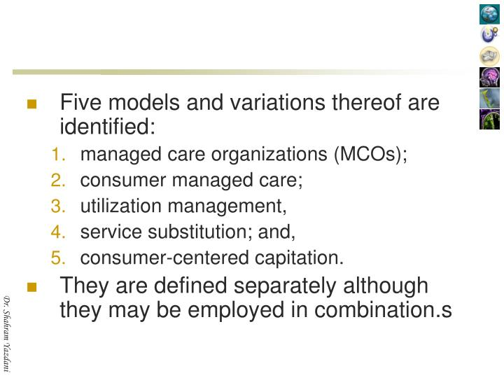 Five models and variations thereof are identified: