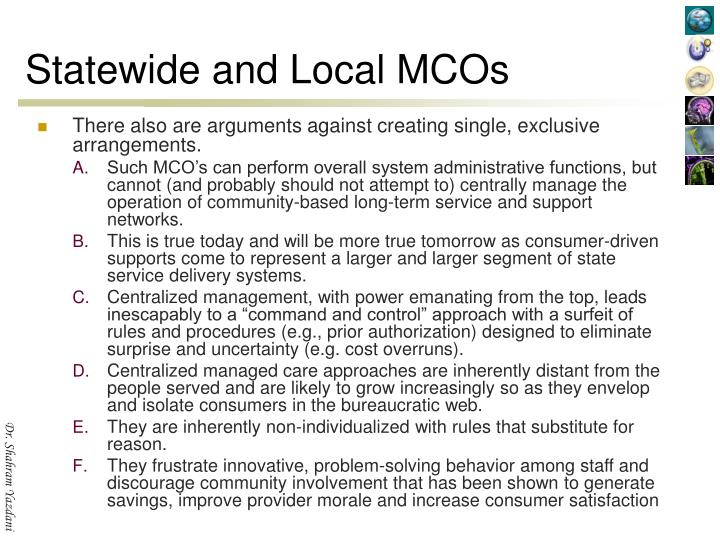 Statewide and Local MCOs
