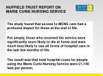 nuffield trust report on marie curie nursing service1