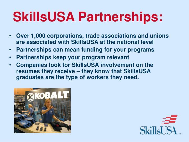 SkillsUSA Partnerships: