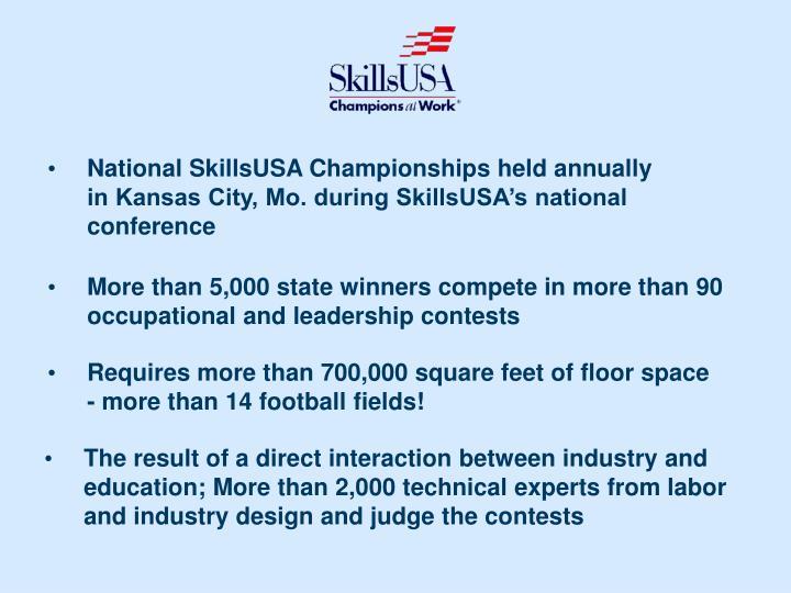 National SkillsUSA Championships held annually
