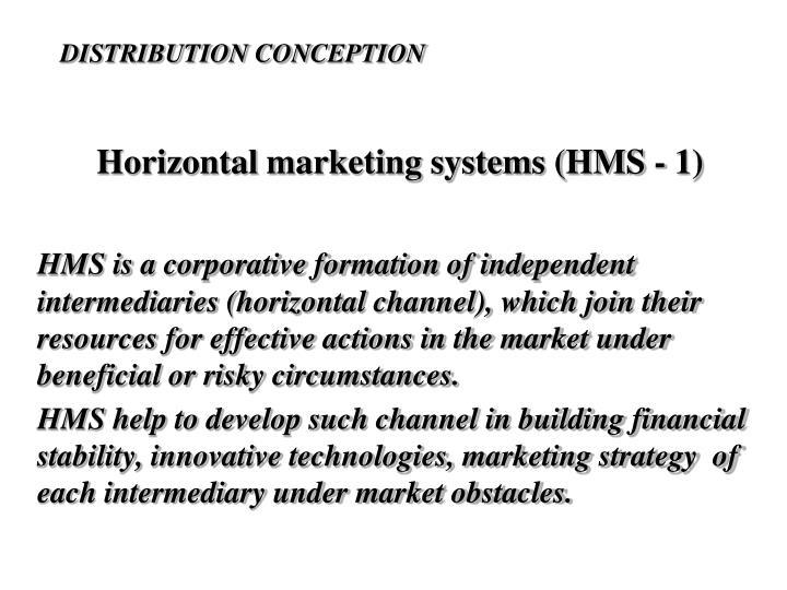 Horizontal marketing systems (HMS - 1)