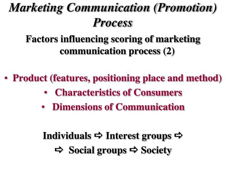 Marketing Communication (Promotion) Process