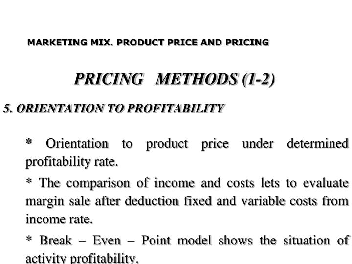PRICING   METHODS (1-2)