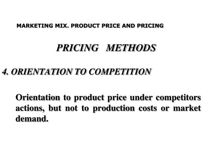 PRICING   METHODS