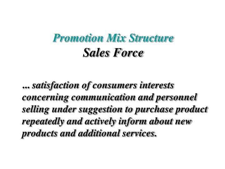 Promotion Mix Structure