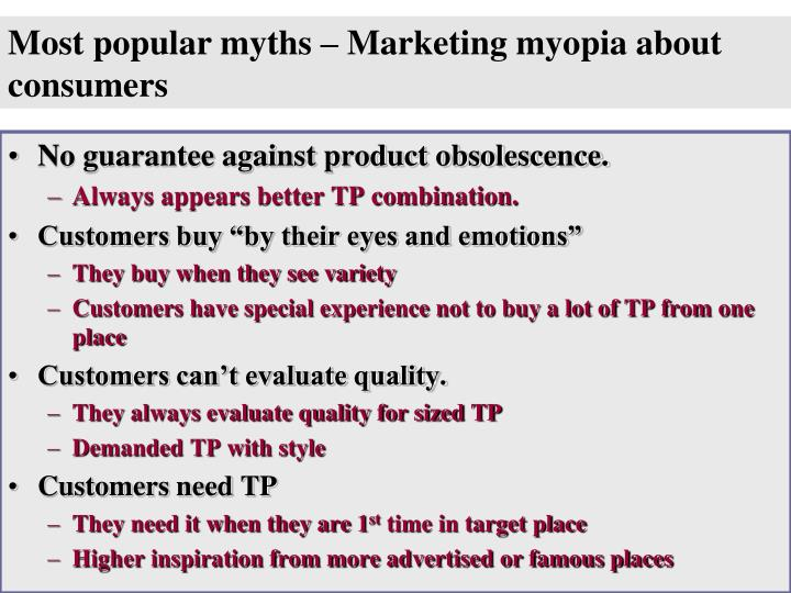 Most popular myths – Marketing myopia about consumers