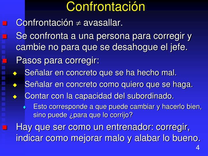 Confrontación