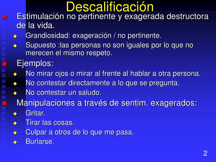 Descalificación