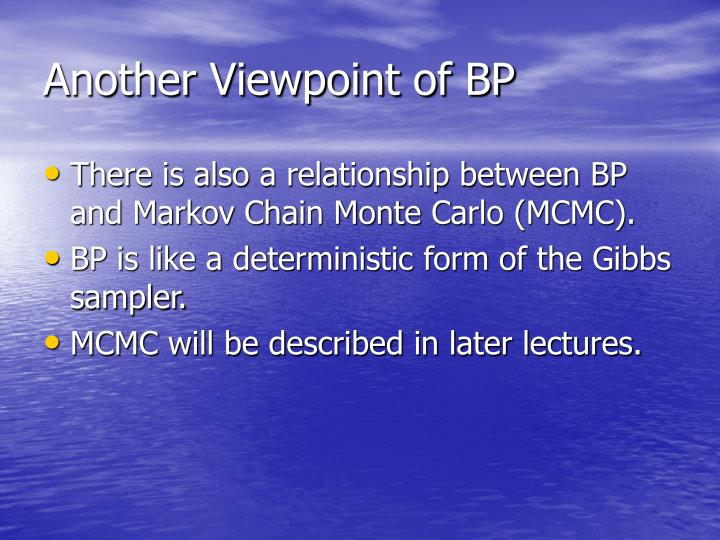 Another Viewpoint of BP