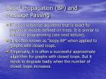 belief propagation bp and message passing