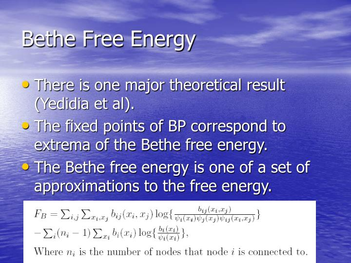Bethe Free Energy