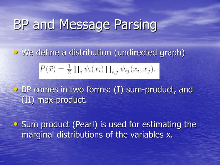 BP and Message Parsing