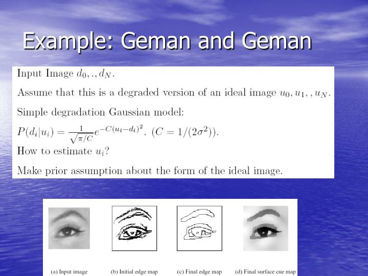 Example: Geman and Geman