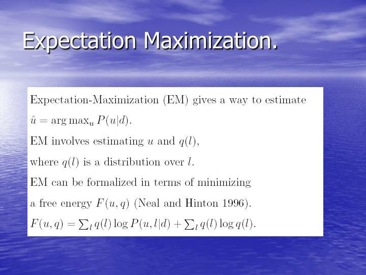 Expectation Maximization.