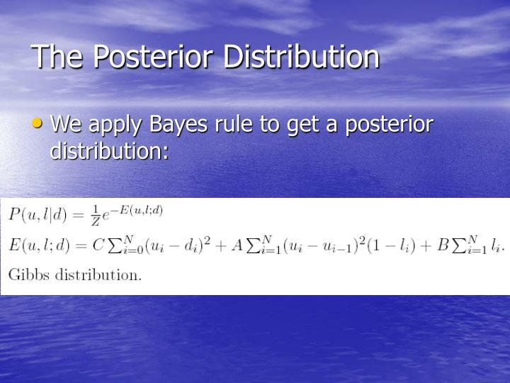 The Posterior Distribution