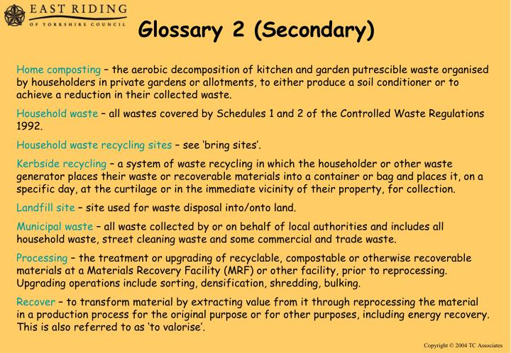 Glossary 2 (Secondary)