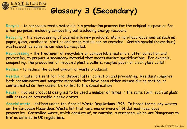 Glossary 3 (Secondary)