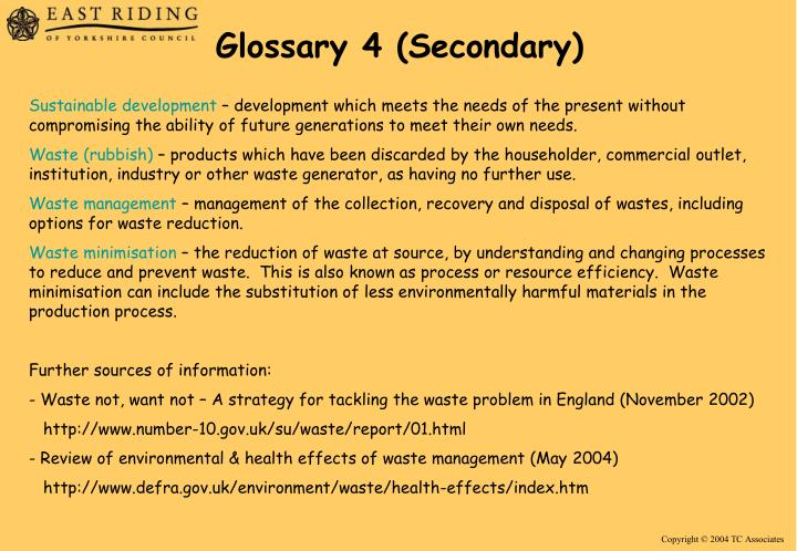 Glossary 4 (Secondary)