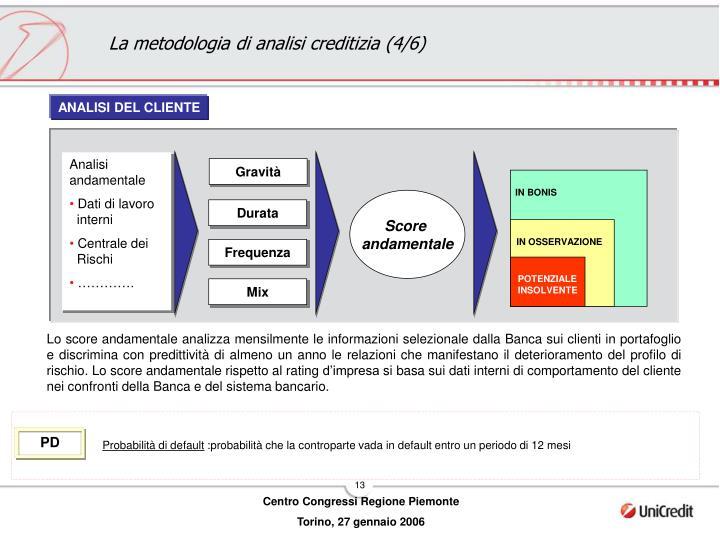 La metodologia di analisi creditizia (4/6)