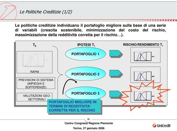 Le Politiche Creditizie (1/2)