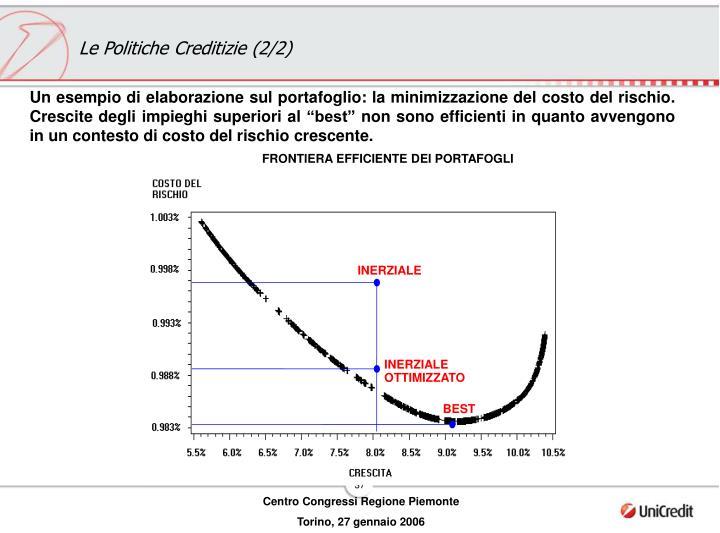 FRONTIERA EFFICIENTE DEI PORTAFOGLI