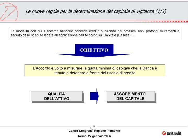 Le nuove regole per la determinazione del capitale di vigilanza (1/3)