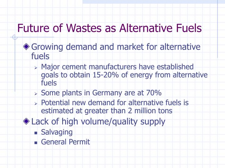 Future of Wastes as Alternative Fuels