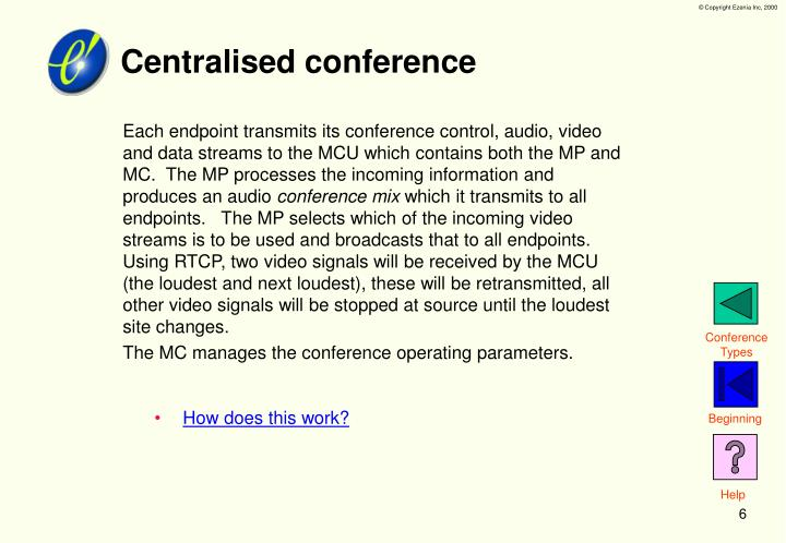 Centralised conference