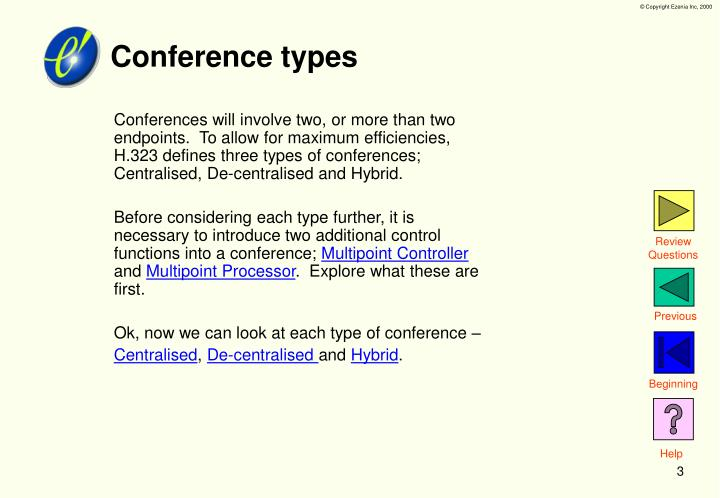 Conference types