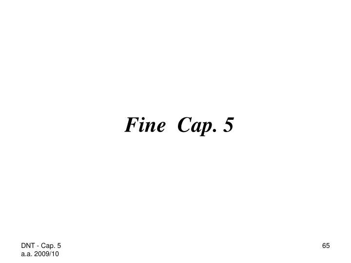 Fine  Cap. 5